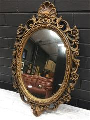 Sale 9006 - Lot 1020 - Plastic Ornate Mirror (h:72 x w:45cm)