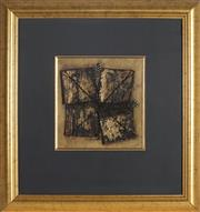 Sale 9077 - Lot 2072 - John Gould (1952 - ) Projection into Space, 1996 mixed media 23.5 x 22.5 cm (frame: 56 x 53 x 3 cm), signed and dated - Projection...