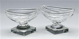 Sale 9164 - Lot 255 - A pair of Waterford crystal miniature comports (H:6cm W:9cm)