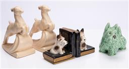 Sale 9185E - Lot 113 - A collection of animal ceramics including Diana, Height 20cm, some losses