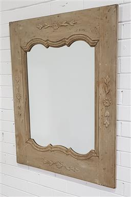 Sale 9188 - Lot 1304 - French style timber framed mirror (99 x 77cm)