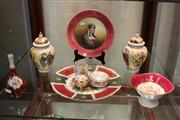 Sale 7977 - Lot 88 - Assorted Limoges Wares and other Porcelain incl Pair of Continental Hand Coloured Lidded Urns