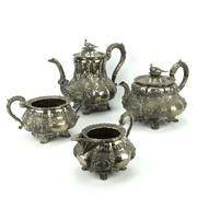 Sale 8314 - Lot 54 - English Hallmarked Sterling William IV Four Piece Tea Setting