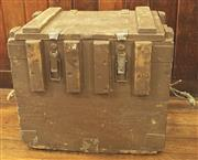 Sale 8319 - Lot 403 - A 1900s Wooden ammunition box, twin handles