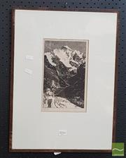Sale 8552 - Lot 2016 - Walter Jardine (1884 - 1970) - Jungfrau Mountain Interlaken, Switzerland 23 x 14cm