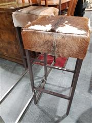 Sale 8676 - Lot 1039 - Pair of Bovine Barstools