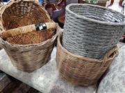 Sale 8740 - Lot 1315 - Collection of Four Wicker Baskets