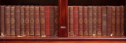 Sale 8795A - Lot 41 - A collection of 35 volumes by Dickens in red leather binding