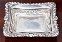 Sale 8963H - Lot 82 - A small sterling silver gadrooned dish Chester maker W.N? Length 16cm weight approx 175g