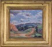 Sale 7379B - Lot 80 - Constance Tempe Manning- Country road, oil on board, 28x33cm, signed lower left