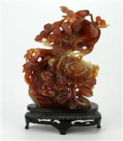 Sale 8153 - Lot 3 - Agate Carved Figure Group