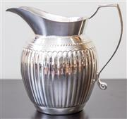 Sale 8279A - Lot 32 - A Royal Queen silver plate classical style water jug, height, 21cm