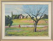 Sale 8301 - Lot 518 - John Santry (1910 - 1990) - Afternoon Walk 60 x 83cm