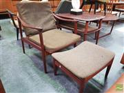 Sale 8451 - Lot 1012 - Peter Hvidt Lounge Chair in Rosewood w Ottoman