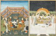 Sale 8548 - Lot 2015 - Indo-Persian School (2 works) - Court Scenes 35 x 26.5cm
