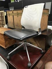 Sale 8839 - Lot 1062 - Pair of Mesh Back Desk Chairs by Vitara