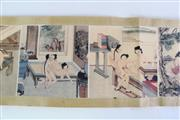 Sale 8909S - Lot 623 - Chinese Erotic scroll, L264cm