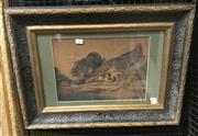Sale 9016 - Lot 2011 - Edith Egginton C19th English Country Scene and Cottage watercolour 46 x 63cm (frame), signed