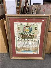 Sale 9050 - Lot 2092 - Record of Australias Great War (AIF) Framed Print, some water damage