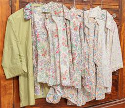 Sale 9120H - Lot 276 - Four womens blouses in cotton with floral designs, examples by Annie Lants