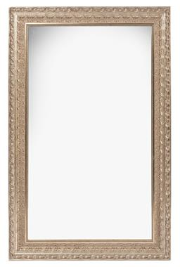 Sale 9130S - Lot 17 - An ornate silvered decorative framed mirror, Height 135cm x width 85cm