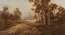 Sale 9150A - Lot 5065 - NEVILLE WILLIAM CAYLEY (1886 - 1950) Bushland Track watercolour 60 x 110 cm (frame: 84 x 135 x 6 cm) signed lower right
