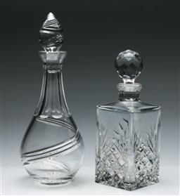 Sale 9168 - Lot 425 - A Stuart crystal decanter together with a another (H:35cm and 28cm)