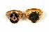 Sale 3808 - Lot 401 - TWO GOLD RINGS;