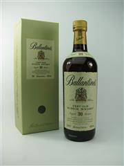 Sale 8329 - Lot 524 - 1x Ballantines Distillers 30YO Blended Scotch Whisky - 43% ABV, 700ml in box