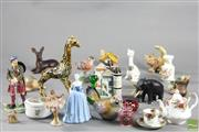 Sale 8496 - Lot 74 - Coalport Nina Figure Together with other Miniatures inc Roses and Satusuma And Scottish Figurine