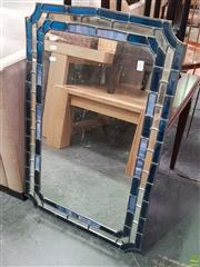 Sale 8637 - Lot 1055 - Leadlight Framed Mirror