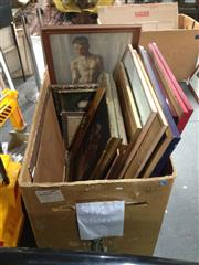 Sale 8767 - Lot 2087 - Large Assortment of Various Artworks incl. original works by Jacob Messene. (box & trolley not included)