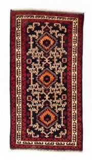 Sale 8800C - Lot 160 - A Persian Baluchi Tribal Hand Knotted Wool Rug, 105 x 196cm