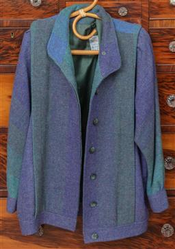 Sale 9120H - Lot 277 - Three woollen jackets and cardigans in dark colours, all size L together with five hand knitted cardigans and jumpers in various col...