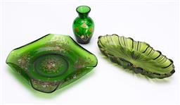 Sale 9185E - Lot 173 - A group of three green glasswares
