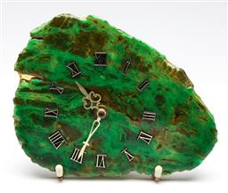 Sale 9253 - Lot 135 - A German Junghans stone wall clock in green (L:20cm)