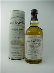Sale 8329 - Lot 525 - 1x The Balvenie Distillery 15YO Single Barrel Single Malt Scotch Whisky - cask date 28/01/98, cask no. 1605, bottle date 19/11/13, b...