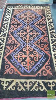 Sale 8361 - Lot 1013 - Early Large Uzbek Felt Rug  (some small tears, 246 x 448cm)
