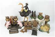 Sale 8417 - Lot 44 - Cast Metal Animal Figures with Other Similar Wares