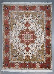 Sale 8545C - Lot 88 - Super Fine Persian Tabriz Silk Inlay 205cm x 160cm