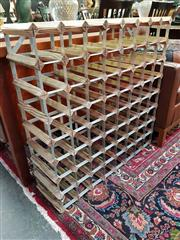 Sale 8580 - Lot 1053 - Timber and Metal Wine Rack