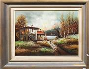 Sale 8678 - Lot 2069 - Signed Vintage Oil
