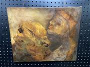Sale 8906 - Lot 2082 - Two Heads, Oil on Canvas Signed to Back M.Koidis-Lethbridge (38cm x 46cm)