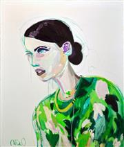 Sale 8316 - Lot 569 - Mia Oatley (1977 - ) - Forest Woman 180 x 150cm