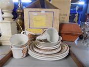 Sale 8391 - Lot 92 - J&G Meakin Dinner Setting in Box