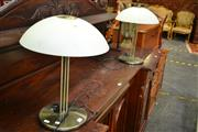 Sale 8093 - Lot 1192 - Pair of Chrome Table Lamps