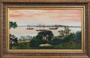 Sale 8286 - Lot 585 - Australian School - Farm Cove, Sydney, cC19th 39 x 70cm