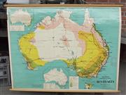 Sale 8319 - Lot 407 - An educational school map of Australia representing the staple products of the country circa 1950