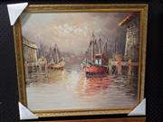 Sale 8419T - Lot 2022 - Artist Unknown (XX) - Harbour Scene 51 x 61cm