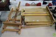 Sale 8532 - Lot 1349 - Two Timber Travelling Artist Easels